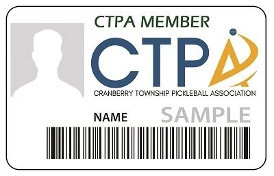 Pickleball  CTPA membership card